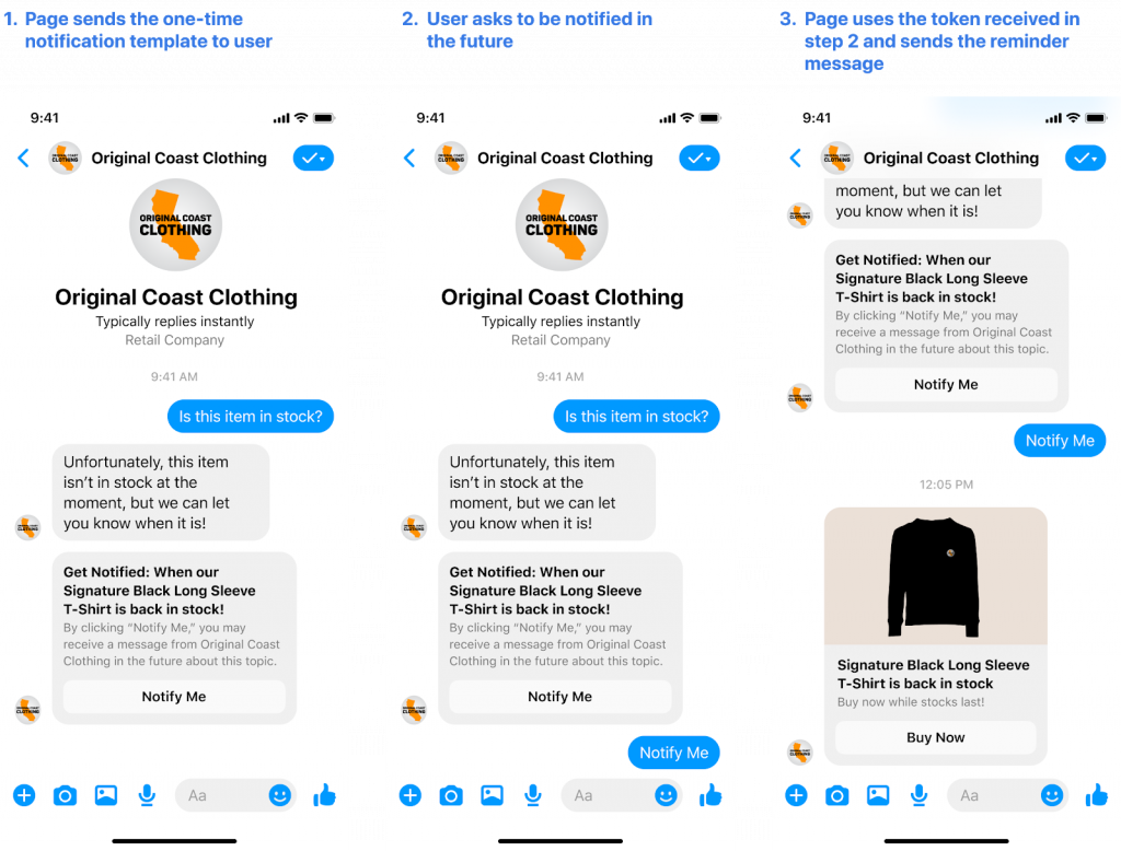 Digital Marketing News: Facebook Adds One-Time Notification API To Messenger | EmailOut.com - free email marketing software