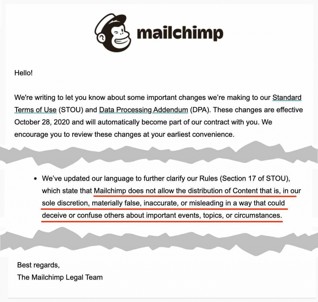 Email Industry News: MailChimp & A New Data Privacy Law | EmailOut.com - free email marketing software