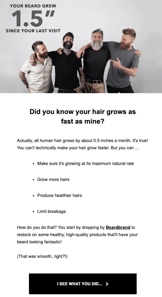Email Campaign Examples - Beardbrand | EmailOut.com