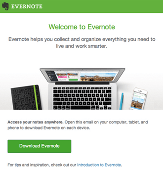 Email Campaign Examples - Evernote | Emailout.com