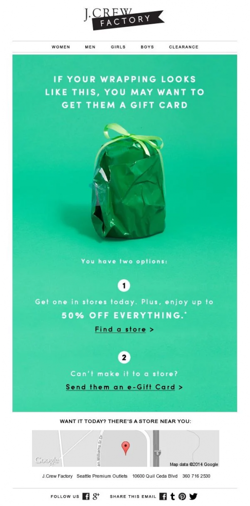 Email Campaign Examples - J. Crew| EmailOut.com